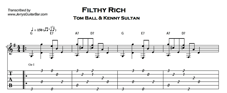 Fingerstyle Instrumental - Filthy Rich Tab