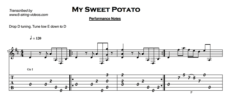 Fingerstyle Instrumental - My Sweet Potato Tab