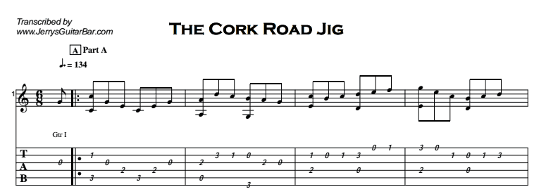 Fingerstyle Instrumental - The Cork Road Jig Tab
