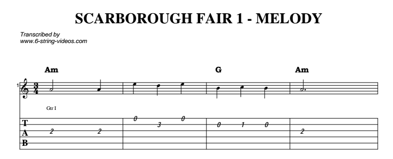 Scarborough Fair (Instrumental) | Guitar Lesson & Tab | Jerry\'s ...