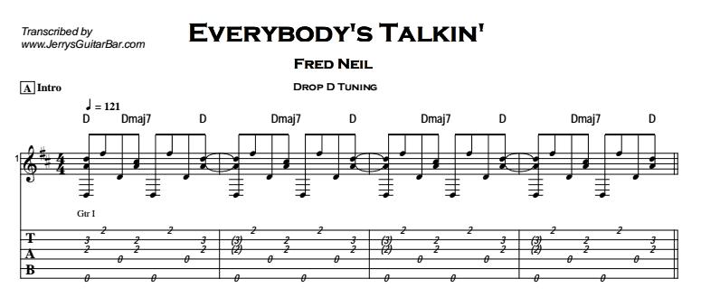Fred Neil – Everybody's Talkin' Tab