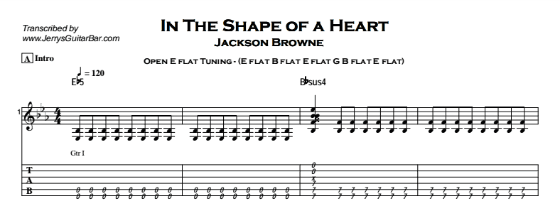 Jackson Browne – In The Shape of a Heart Tab