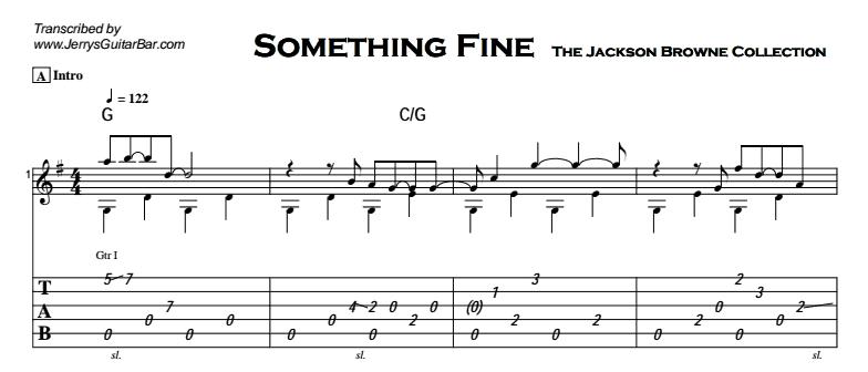 Jackson Browne - Something Fine Tab