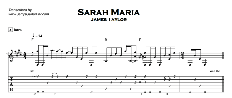 James Taylor - Sarah Maria Tab