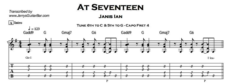 Janis Ian – At Seventeen Tab