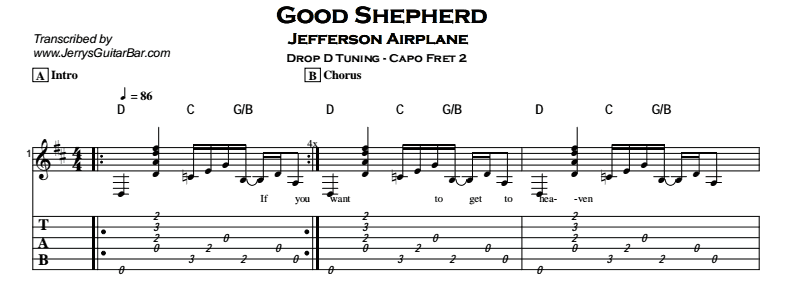 Jefferson Airplane – Good Shepherd Tab