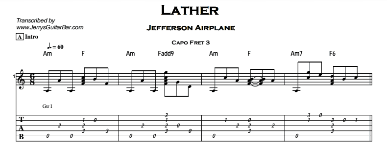 Jefferson Airplane - Lather Tab