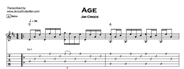 Jim Croce - Age Tab