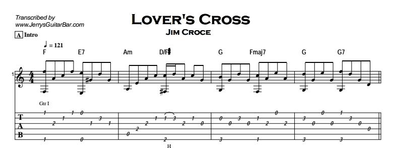 Jim Croce - Lover's Cross Tab