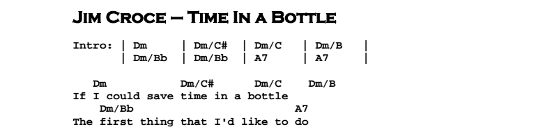 Time In A Bottle Guitar Lesson Tab Chords Jerrys Guitar Bar