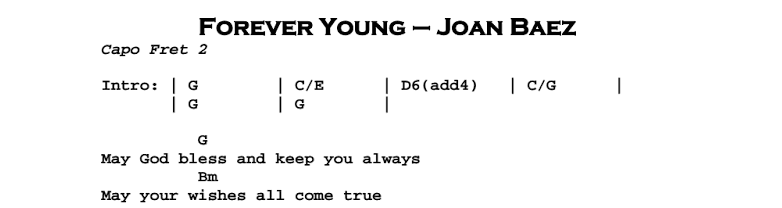 Forever Young | Guitar Lesson, Tab & Chords | Jerry\'s Guitar Bar