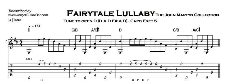 John Martyn - Fairytale Lullaby Tab