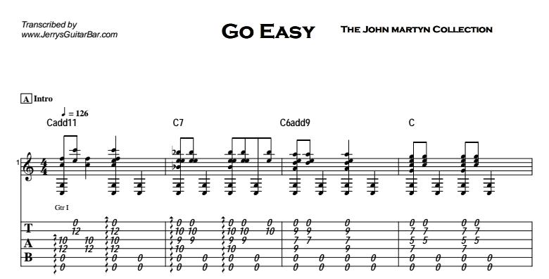 John Martyn - Go Easy Tab