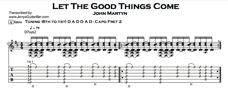 John Martyn - Let The Good Things Come Tab