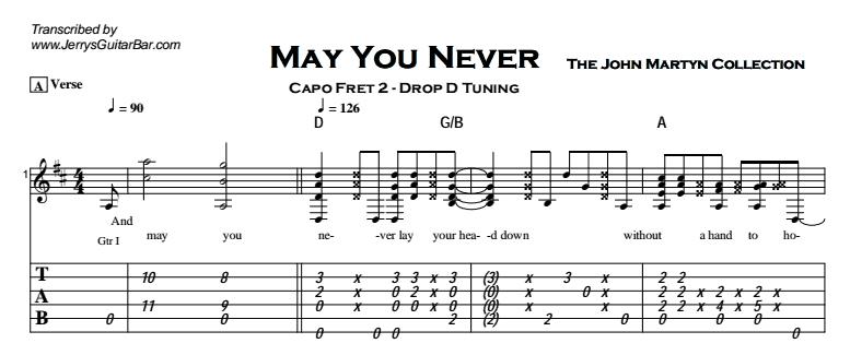 John Martyn - May You Never Tab