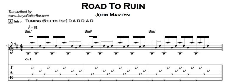 John Martyn - Road To Ruin Tab