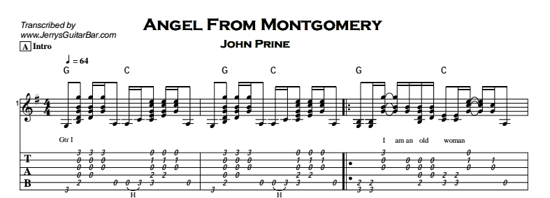 John Prine – Angel From Montgomery ~ Guitar Lesson | Jerry\'s Guitar Bar