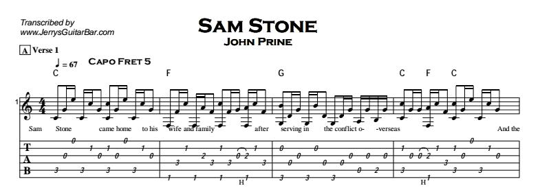 John Prine - Sam Stone Tab