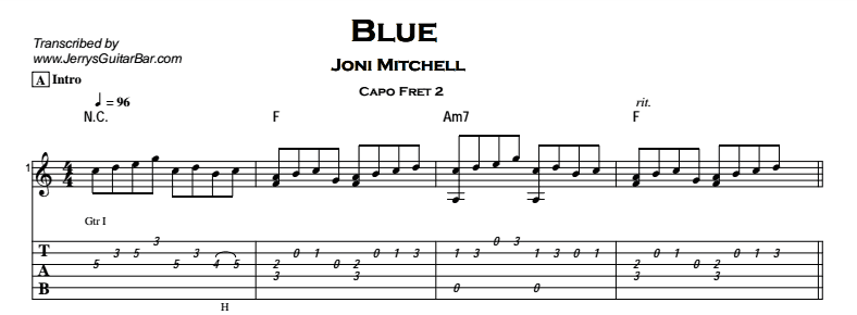 Joni Mitchell - Blue Tab