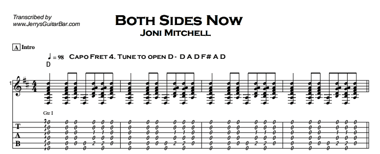 Joni Mitchell - Both Sides Now Tab