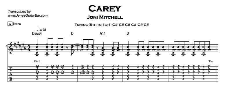 Joni Mitchell - Carey Tab