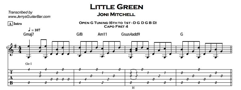 Joni Mitchell – Little Green Tab