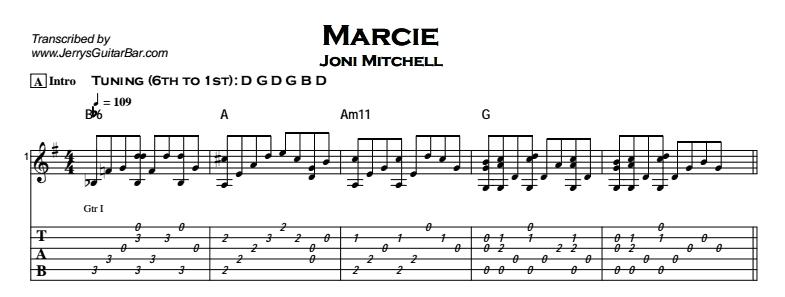 Joni Mitchell - Marcie Tab