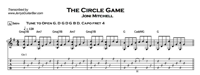 Joni Mitchell - The Circle Game Tab