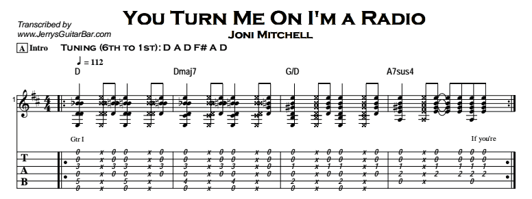 Joni Mitchell - You Turn Me On I'm a Radio Tab