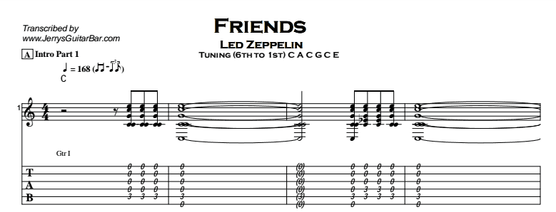 Led Zeppelin - Friends Tab