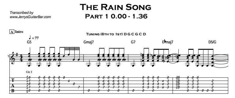 Led Zeppelin – The Rain Song | Guitar Lesson, Tab & Chords | JGB