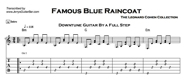 Leonard Cohen - Famous Blue Raincoat Tab