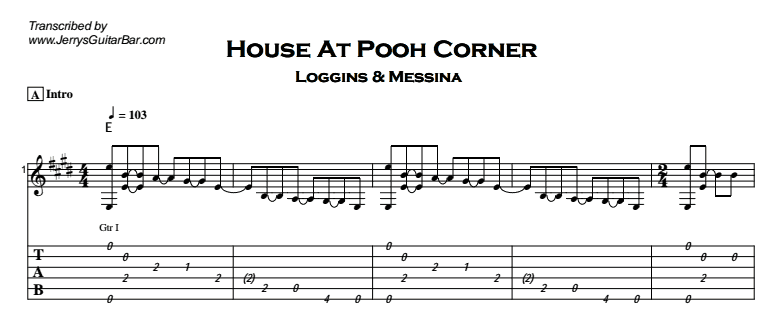 Loggins & Messina – House at Pooh Corner Tab