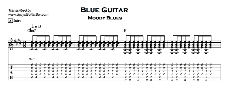 The Moody Blues – Blue Guitar - Jerry\'s Guitar Bar