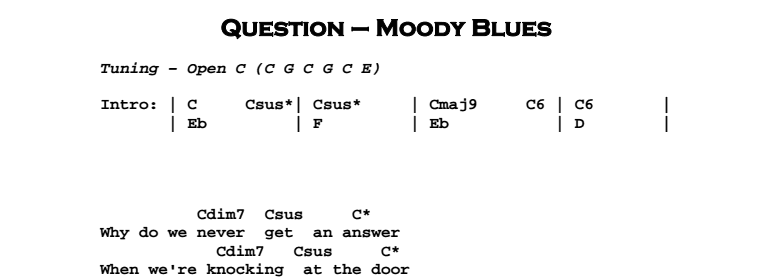 The Moody Blues - Question - Jerry\'s Guitar Bar