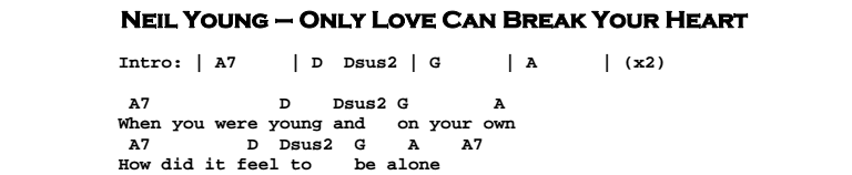 Only Love Can Break Your Heart | Guitar Lesson, Tab & Chords | JGB
