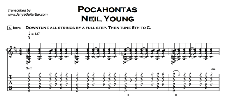Neil Young - Pocahontas Tab