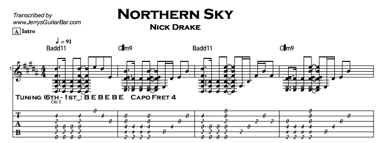 Nick Drake - Northern Sky Tab