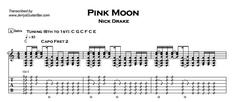 Nick Drake - Pink Moon Tab