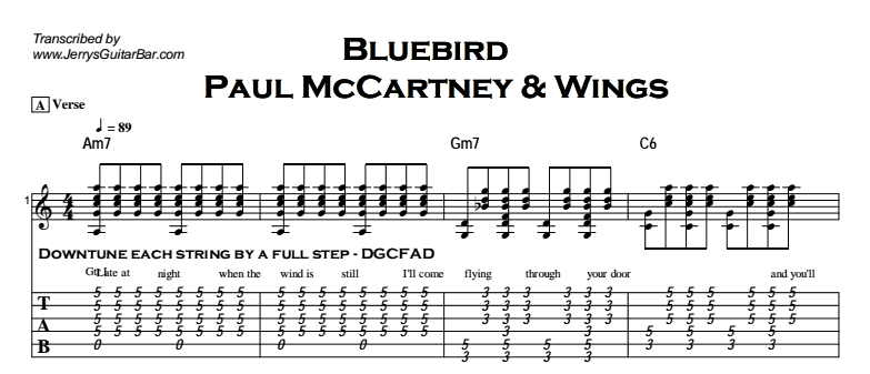 Paul McCartney & Wings - Bluebird Tab