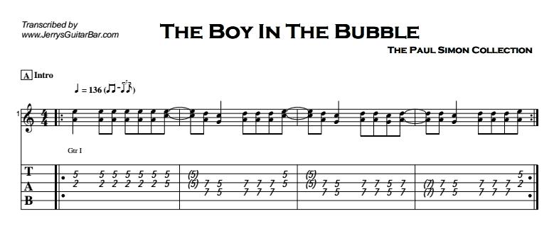 Paul Simon - The Boy In The Bubble Tab