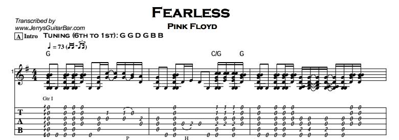Pink Floyd - Fearless Tab