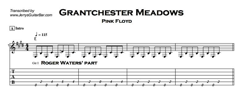 Pink Floyd - Grantchester Meadows Tab