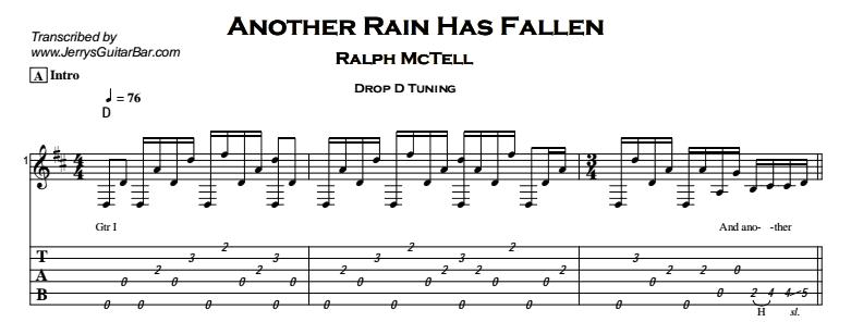 Ralph McTell – Another Rain Has Fallen Tab