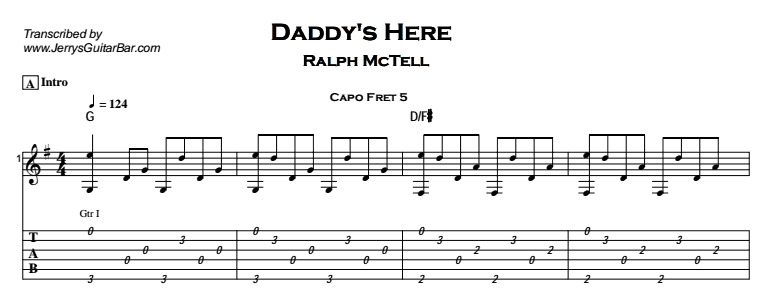 Ralph McTell – Daddy's Here Tab