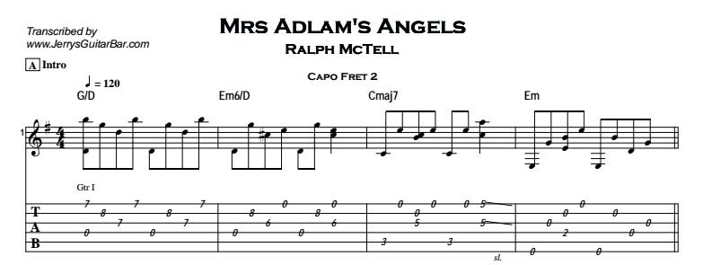 Ralph McTell – Mrs Adlam's Angels Tab