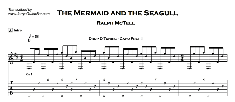 Ralph McTell – The Mermaid and the Seagull Tab