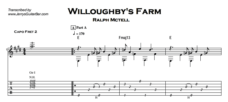 Ralph McTell – Willoughby's Farm Tab