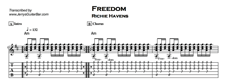Richie Havens Freedom Jerrys Guitar Bar
