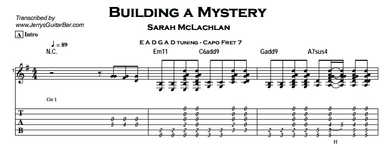 Sarah McLachlan – Building a Mystery Tab